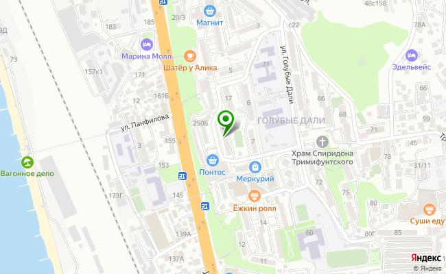 Сбербанк Сочи ул. Голубые Дали 15 карта