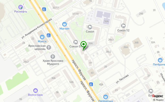 Сбербанк Ярославль проспект Фрунзе 41 карта