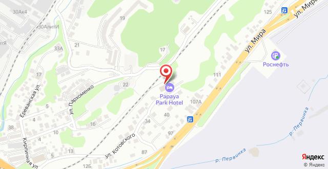 Парк-Отель Папайя на карте