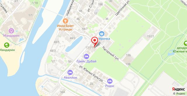 Отель Барин Хаус на карте
