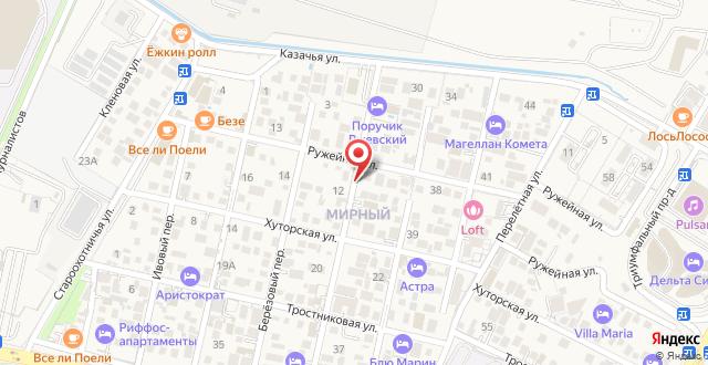 Отель Поручик Ржевский на карте