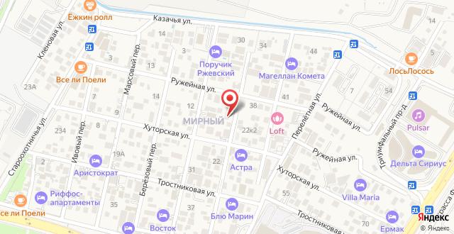 Мини-отель на Пихтовом на карте