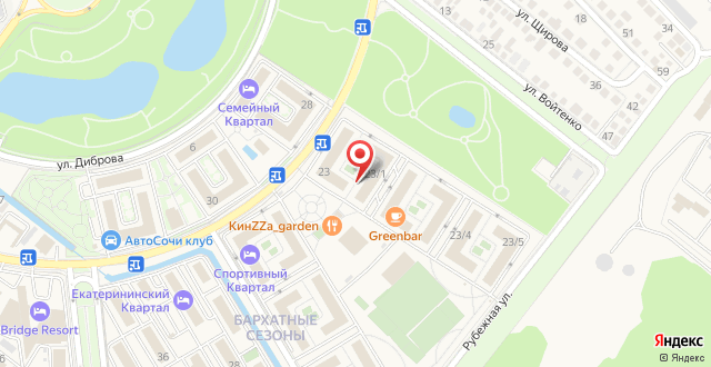 Курортный отель Бархатные Сезоны Русский Дом 17 Квартал на карте