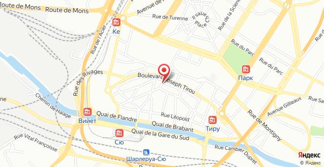 Novotel Charleroi Centre на карте