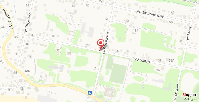 Гостевой дом Милан на карте