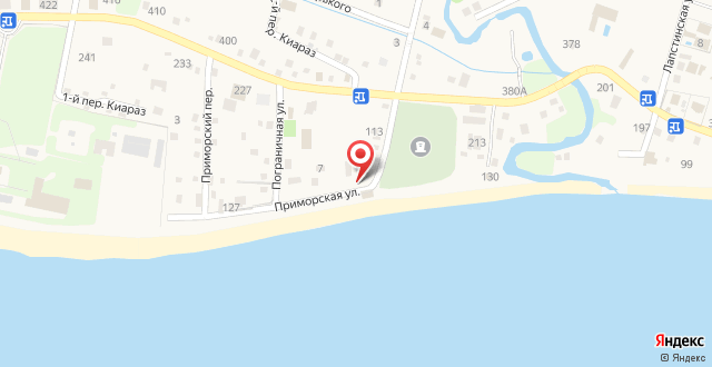 Гостевой дом на Приморской на карте