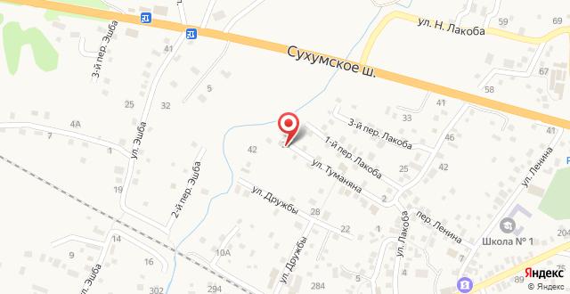 Гостевой дом У Адама на карте
