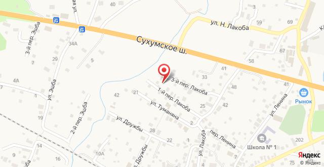 Гостевой дом Афоня на карте