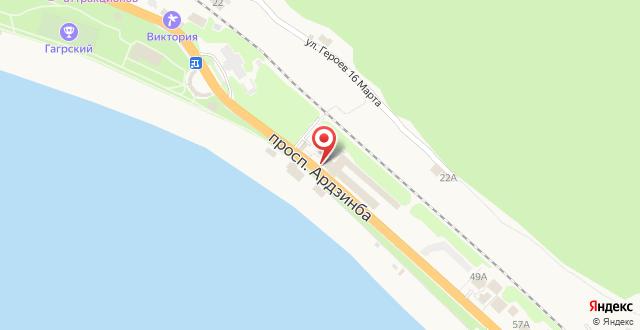 Отель Континент Гагра на карте
