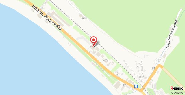 Гостиница Райда на карте