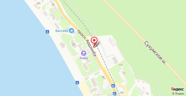 Гостиница Венера на карте