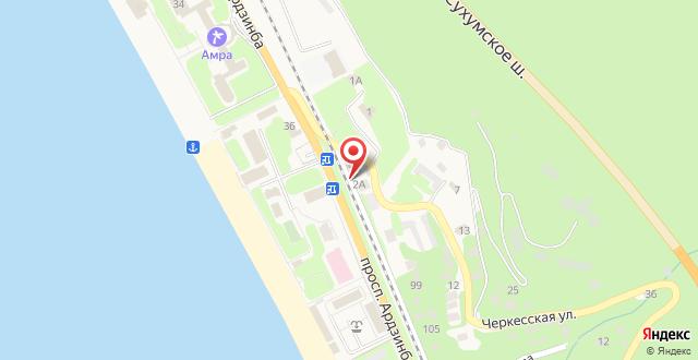 Отель Пальма на карте