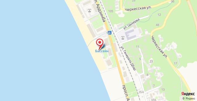 Пансионат Лазурный берег на карте
