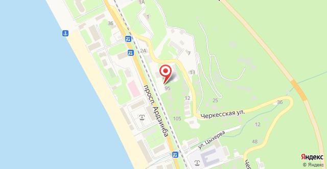 Отель Аимара на карте