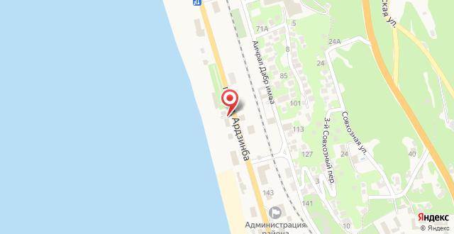 Отель Aкватория на карте