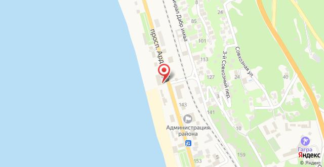 Курортный отель Мидель Гагра на карте