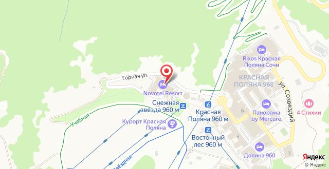 Курортный отель Novotel Resort Krasnaya polyana Sochi на карте