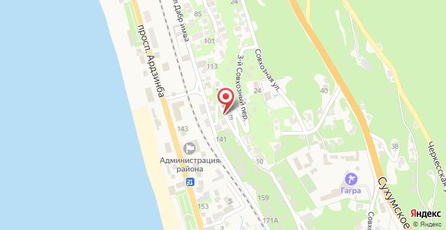 Мини-отель Гагра на карте