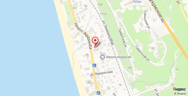 Отель Арстаа на карте