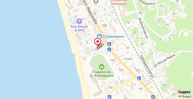 Гостевой дом Мандарин на карте