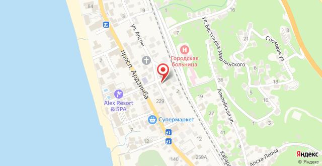 Гостевой дом Очаг на карте