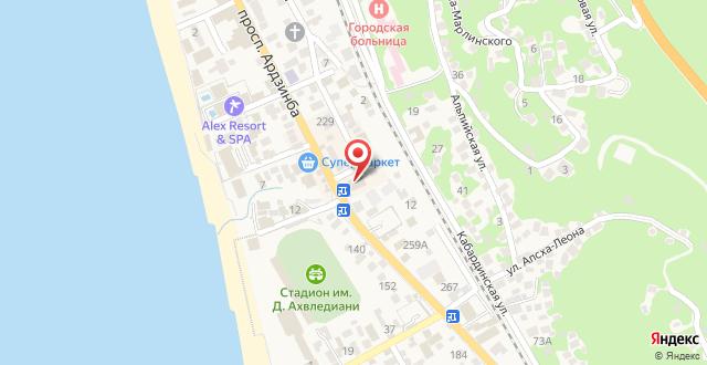 Гранд Отель Гагра на карте