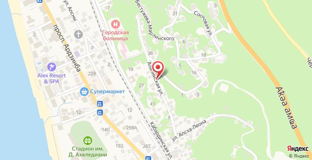 Guest House Alpiyskaya 7 на карте