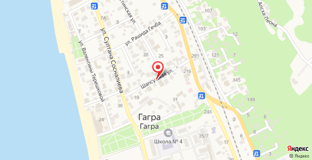 Мини-гостиница Абхазия на карте