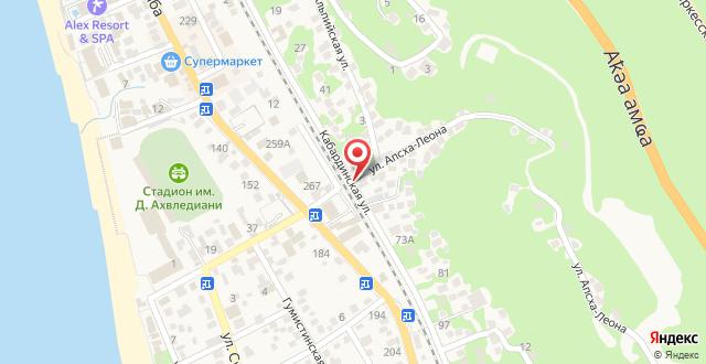 Guest house Abkhazia in Gagra на карте
