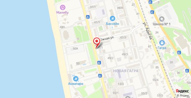 Апартаменты на Абазгаа 39 на карте
