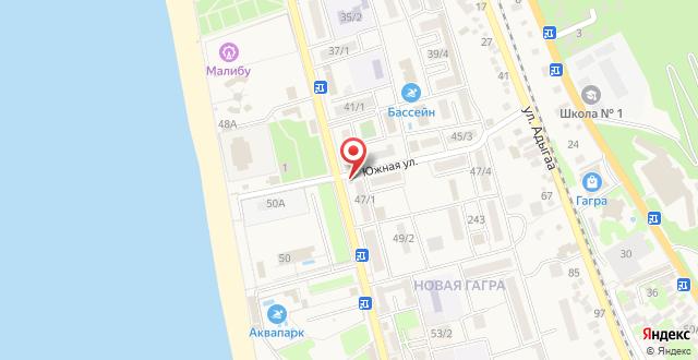 Апартаменты на Абазгаа 51 на карте
