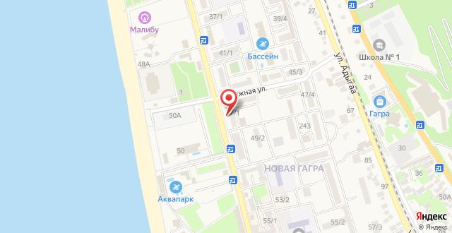 Апартаменты на Абазгаа 37/2 на карте