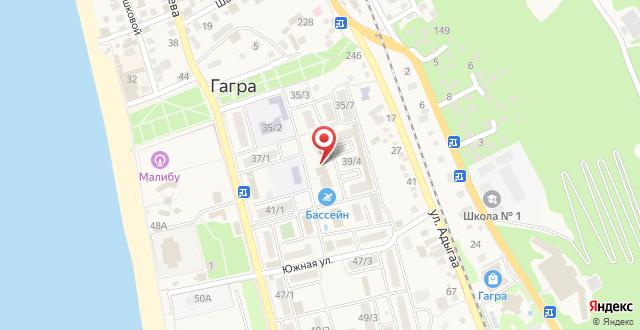 Пансионат Аибга на карте