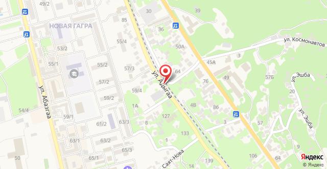 Гостевой дом На Адыгаа на карте
