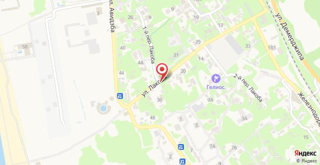 Апартаменты На Лакоба 32 на карте