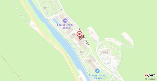 Гранд Отель Поляна на карте