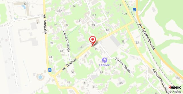 Апартаменты на Лакоба 14 на карте