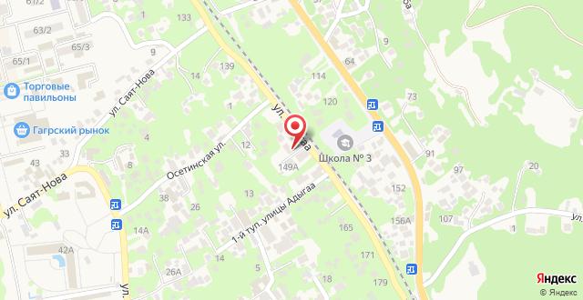 Гостевой дом Таминик на карте