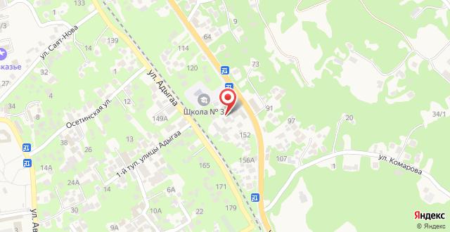 Отель Гега на карте