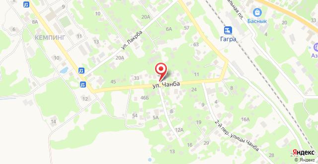 Гостевой дом на Чанба 12 на карте
