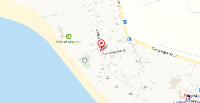 Гостевой дом на Фабричной на карте