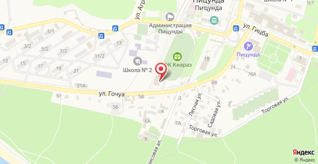 Гостевой дом На Гочуа на карте