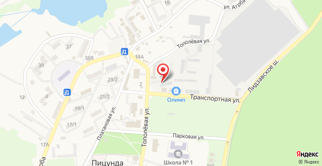 Отель Old Pitius на карте