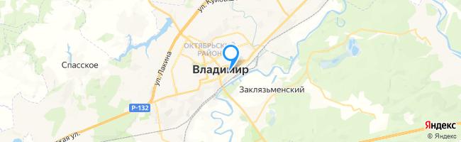 гостиницы  на карте