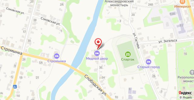 Отель Медный Двор на карте