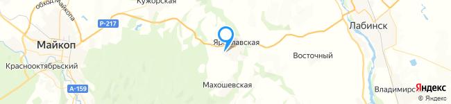 на Яндекс карте координаты 44.6052088,40.4409108