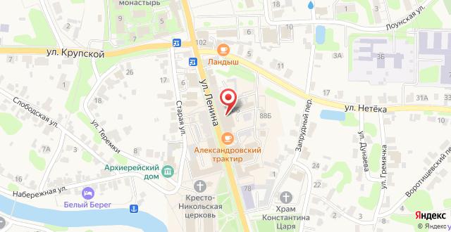 Гостиница Золотой век на карте