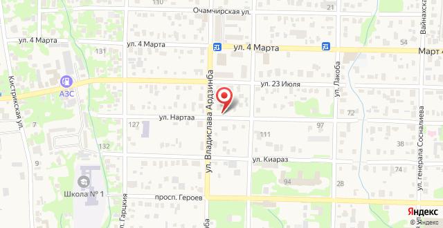 Гостевой дом Мека на карте