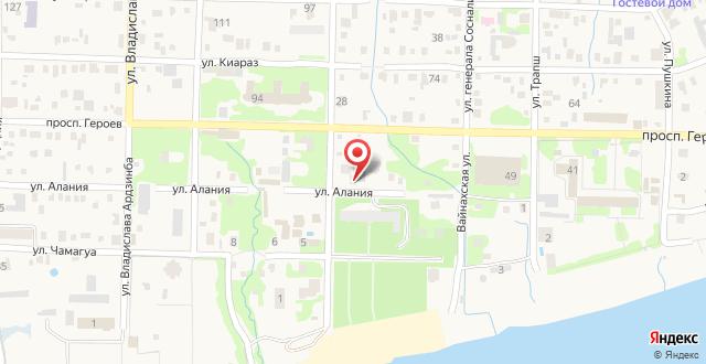 Гостевой дом Алания на карте