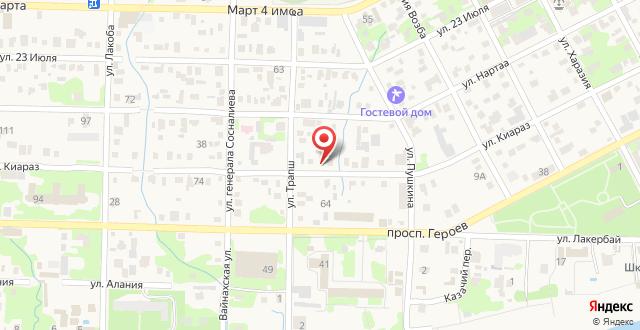 Мини-гостиница Волна на карте